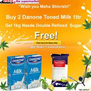 Buy 2 Danone Toned Milk 1 Ltr Get 1kg Needs Sugar Free