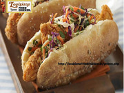 Fried Shrimp Po-Boy Sandwich | Louisiana Famous Fried Chicken